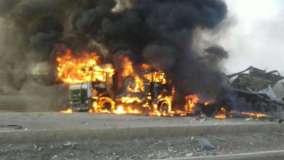 انفجار سيارة مفخخة قرب قاعدة أمريكية في الرقة