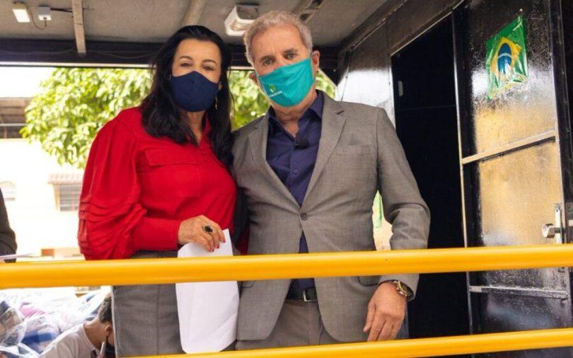 MARA E ALTAIR VILAR, À FRENTE DA CAMPANHA DO AGASALHO