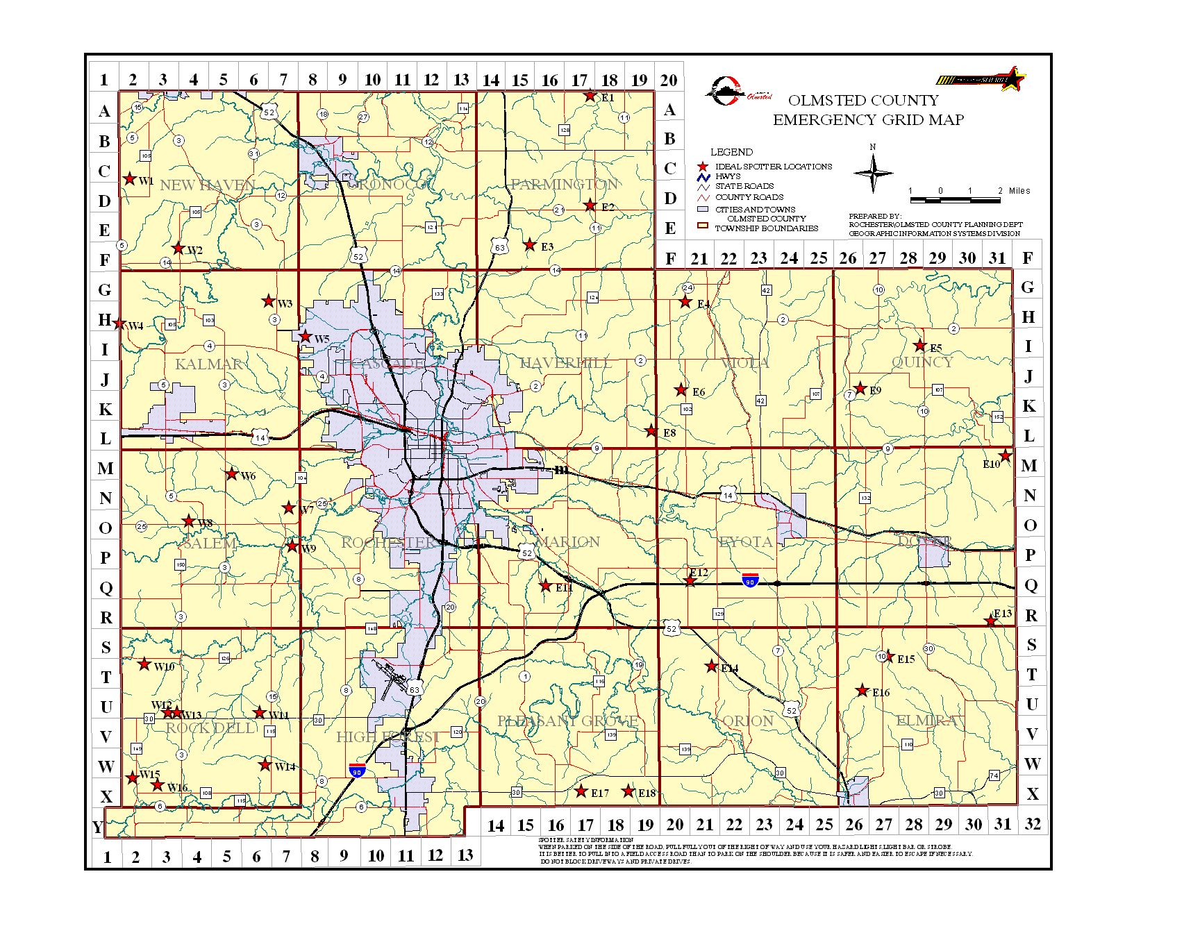Olmsted County Ares Frequency List And Grid Maps