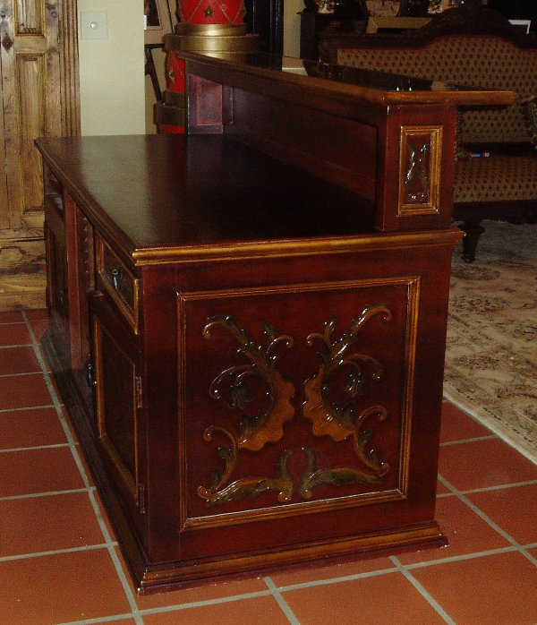 Renaissance Architectural Custom Pub Table With Chairs