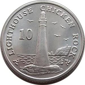 10p Chicken Rock Lighthouse.
