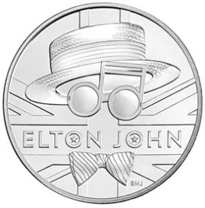 Elton John Five pound coin