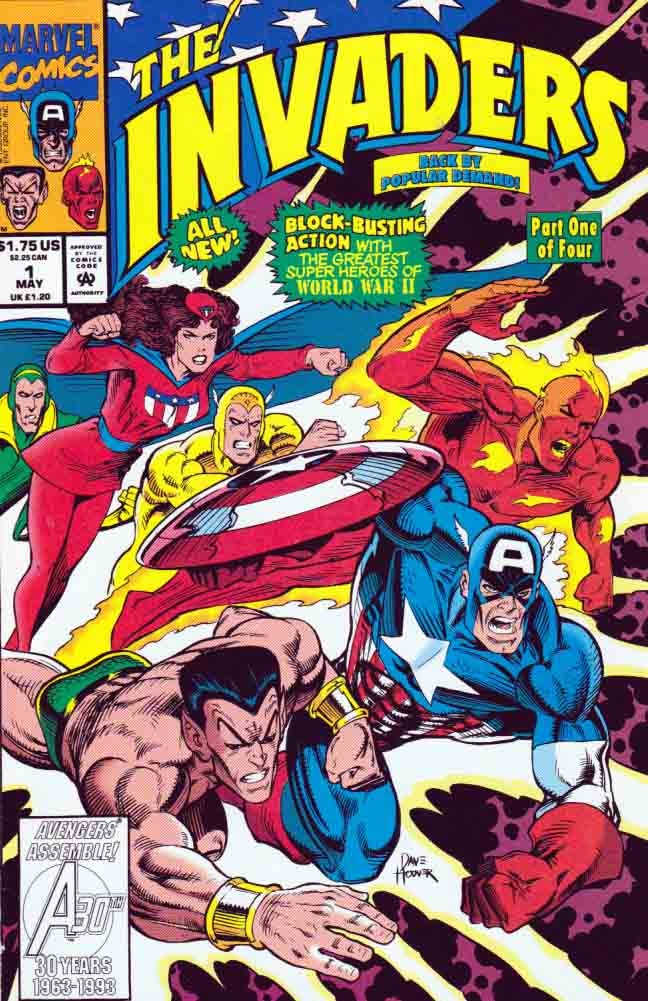 Image result for 1993 marvel comics invaders battle axis