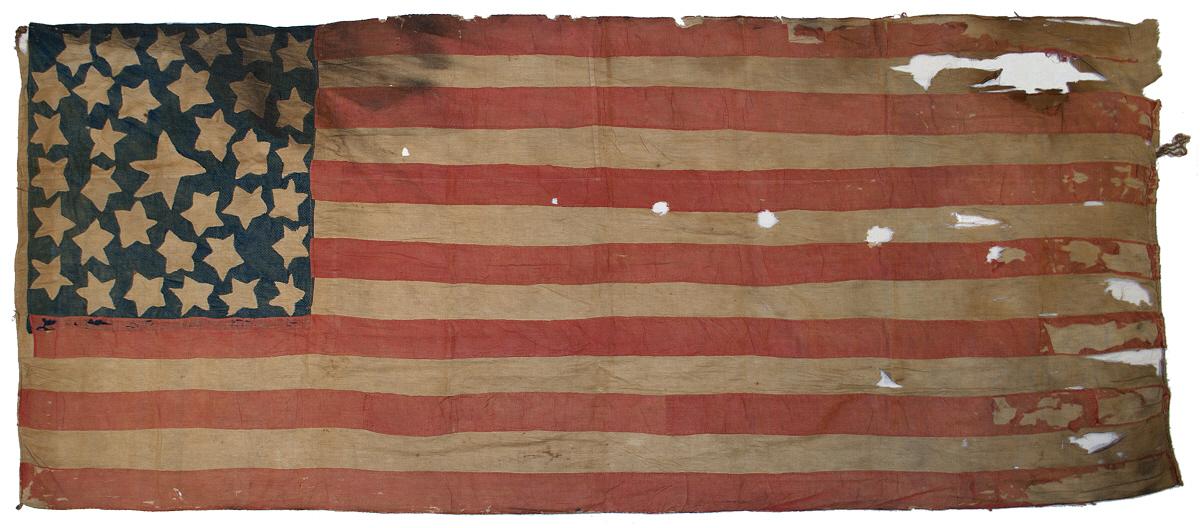 Homemade West Virginia Statehood U.S. flag with 35 stars. Image from RareFlags.com