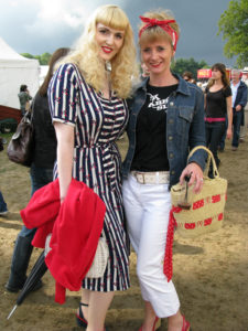 Festival goers at Vintage at Goodwood in 2010