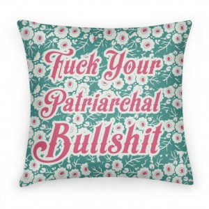 Feminist pillow from lookhuman.com
