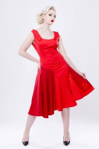 Red 'Mirra' dress by Philmore Clague