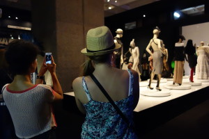 Visitors at the Barbican's Jean Paul Gaultier exhibition