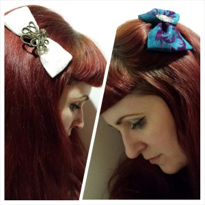 Hair bows by Ragamuffin Crafts