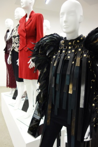 Outfits from the 'Arena of Power' at the Women Fashion Power exhibition