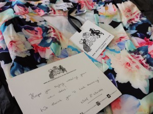 Wolf & Whistle daffodil print tea dress