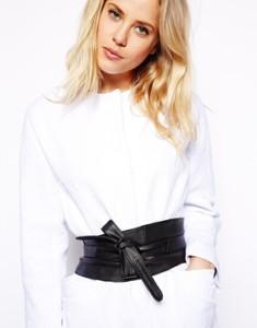 Leather obi belt from ASOS