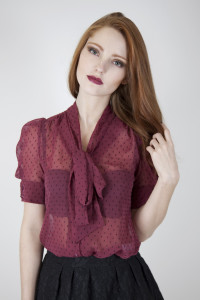 Wolf & Whistle pussy bow blouse