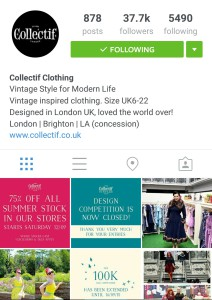 Screenshot of the Collectif Instagram feed