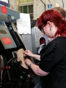 Image taken by Lance Tabraham during a footwear workshop at LCF