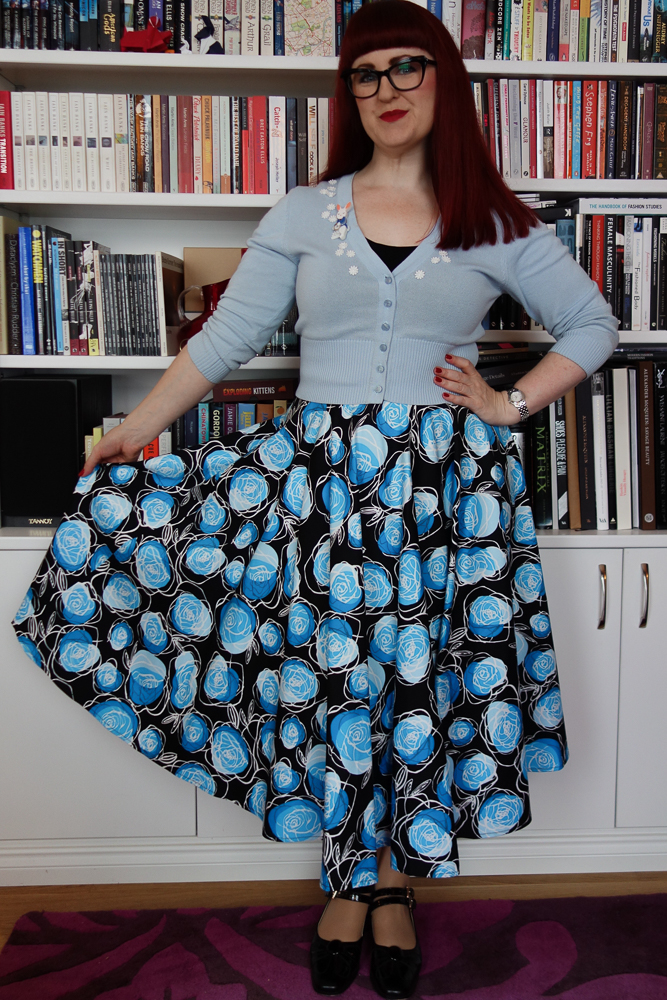 Skirt by Vivien of Holloway, Cardie by Collectif, brooch by Tangerine Menagerie