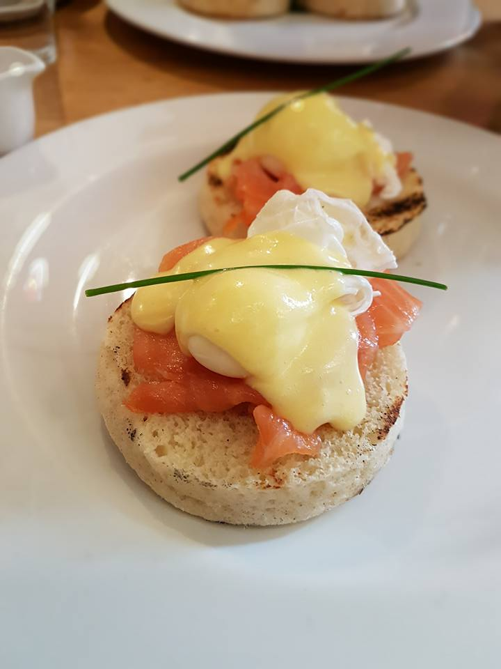 Lou's portion of Eggs Royale at The Table Cafe, SE1