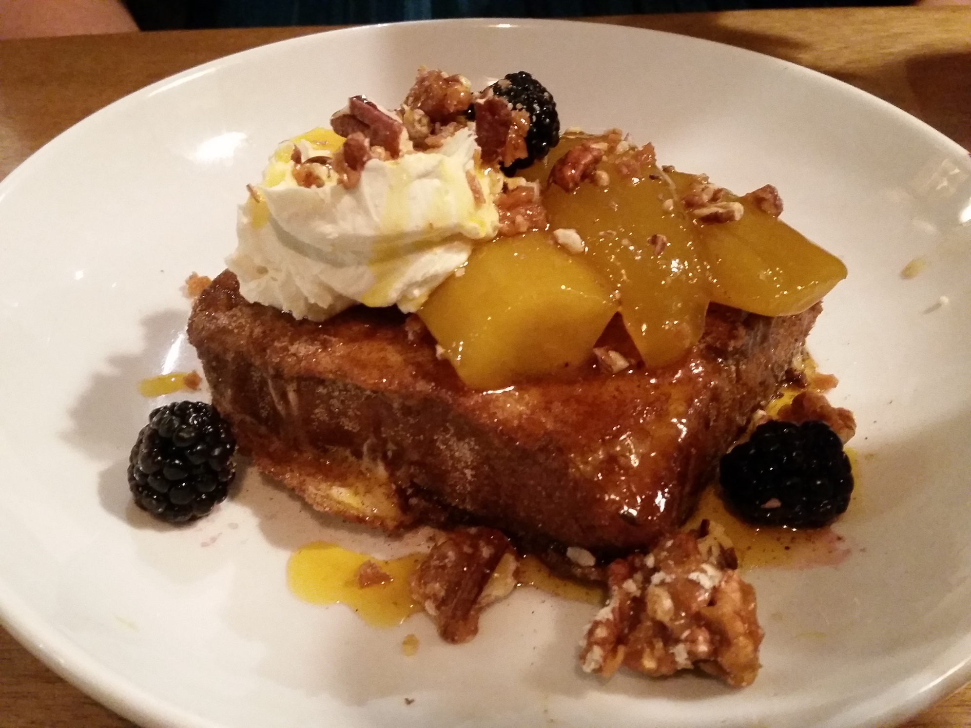 Eleanor's cinnamon French toast (in lieu of waffles!) at Lantana, Shoreditch