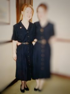Lori in her John Lewis uniform in 1998