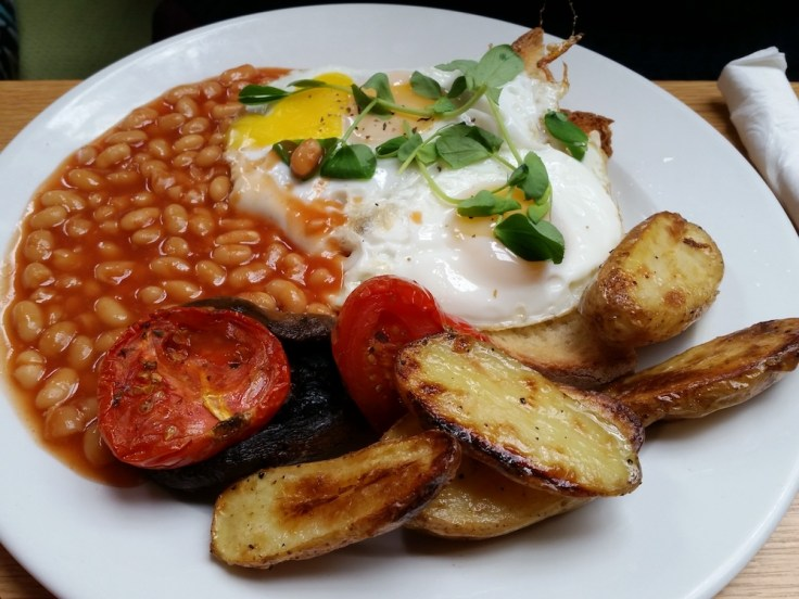 Ed's veggie fry up at the Cornerstone Caf� in Woolwich