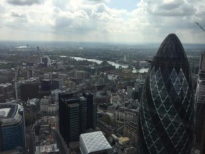 More of the view over London from Duck & Waffle