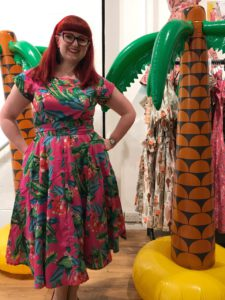 Lori wearing the Love ur Look pink tropical dress