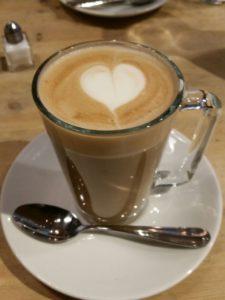 Lori's soya latte at Bill's in Soho