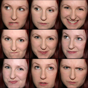 A montage of Lori's expressions, from 2007