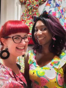 Lori Smith and Ronke Fashola at the 2018 Love ur Look pin-up pop-up shop