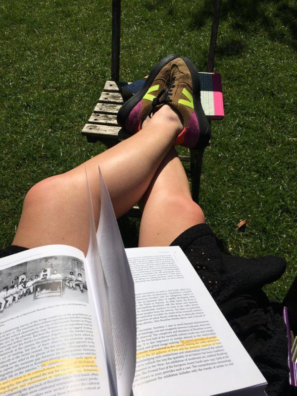 Liz's footwear when cycling