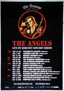 ANGELS-- THE - Live By Request 2009 Australian Tour Poster - 1