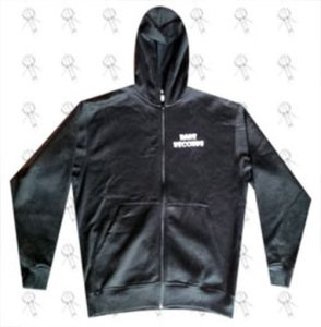 RARE RECORDS - Limited Edition Black With White Logo Hoodie - 1