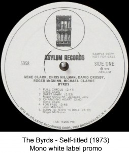 the byrds mono white label promo