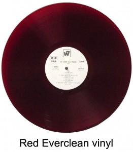Japan LPs on red vinyl