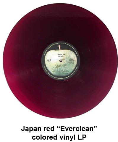 japan red vinyl LP