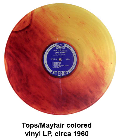 tops mayfair colored vinyl records