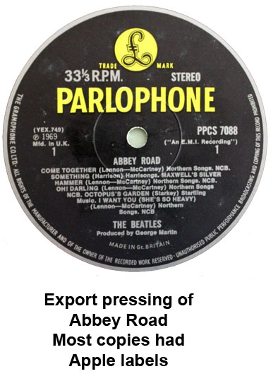 abbey road export pressing