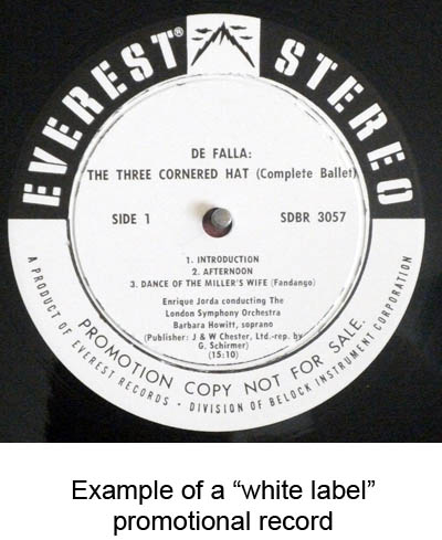 promotional record