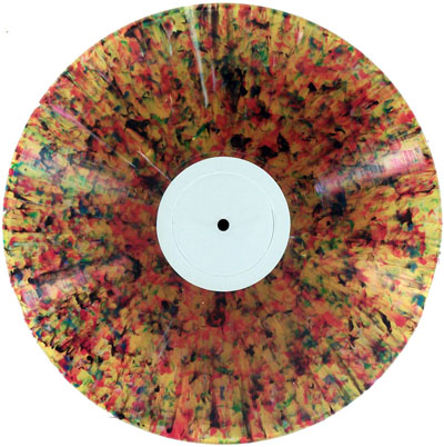 "K&S records on multicolor ""splatter"" vinyl"
