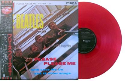 beatles - please please me japan red vinyl mono lp