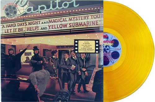 beatles reel music yellow vinyl promo