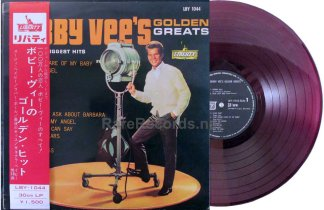 bobby vee - golden greats red vinyl japan lp