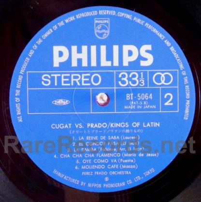 xavier cugat/perez prado - kings of latin japan lp