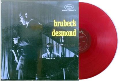 dave brubeck/paul desmond red vinyl u.s. lp