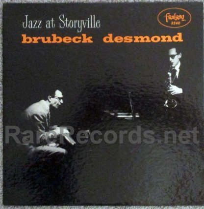 dave brubeck/paul desmond - jazz at storyville red marbled vinyl U.S. lp
