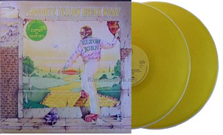 elton john - goodbye yellow brick road yellow vinyl uk LP