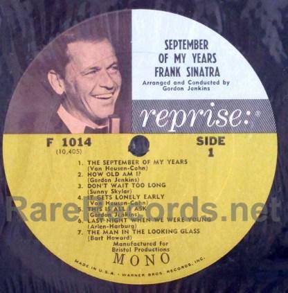 frank sinatra - september of my years u.s. mono lp