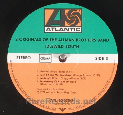 Allman Brothers - 2 Originals Of... rare German 2 LP set