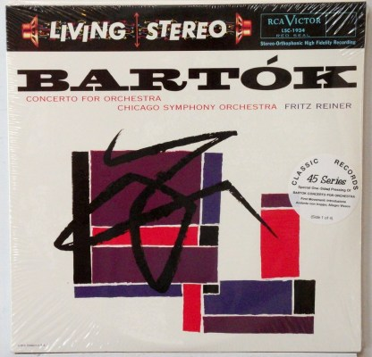 Bartok - Concerto for Orchestra - Reiner/CSO sealed Classic Records 4 LP 45 RPM set