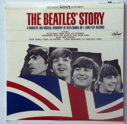 Beatles - The Beatles Story Rainbow Label Capitol Stereo 2 LP set